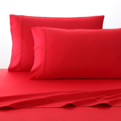 300 Thread Count 100% Cotton Sheet Set Size: King, Color: Red