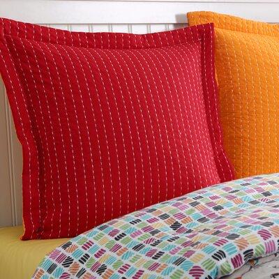 Dash Euro Sham Color: Scarlet/Tangerine