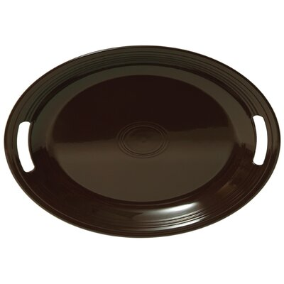 Oval Tray In Chocolate