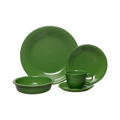 5 Piece Place Setting Color: Shamrock