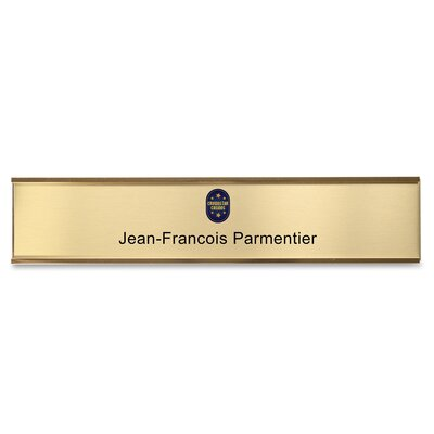 Wall Plate Signage Kit Color: Gold