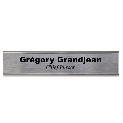 Wall Plate Signage Kit Color: Silver
