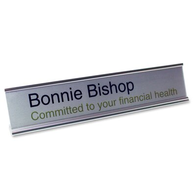 Desk Plate Signage Kit Color: Silver