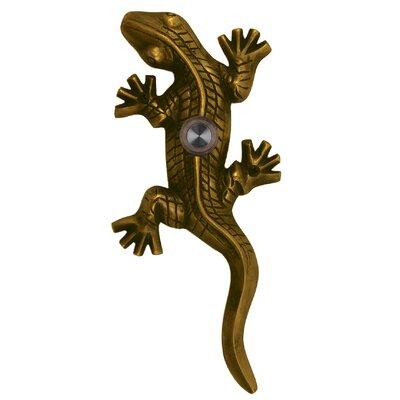 Lizard and Gecko Doorbell Surface Mount Pushbutton Finish: Antique Brass