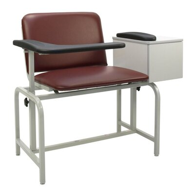 Winco Manufacturing Extra Large Blood Drawing Chair with Drawer - Color: Moss Green, Style: Dual Pivot Arms, TB133, IV Pole Right Rear at Sears.com