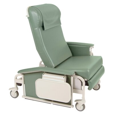 Winco Manufacturing Extra Large Drop Arm Care Recliner with Nylon Casters - Color: Moss Green, Style: Heat, Massage at Sears.com
