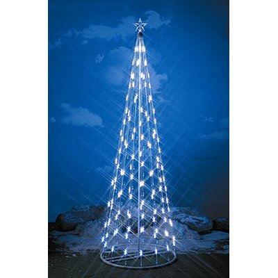 String Light Christmas Cone Tree in White