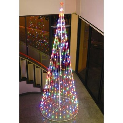 String Light Cone Tree Christmas Decoration with Multi-colored Lights