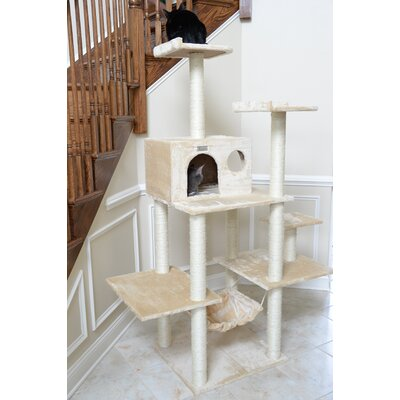 68 Cat Tree Color: Beige