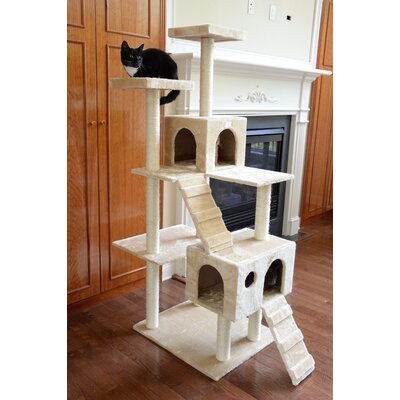 70 Cat Tree Color: Beige