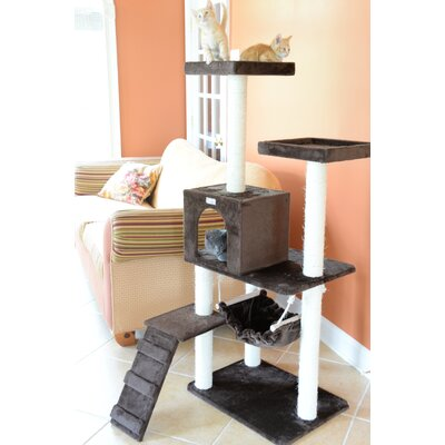 57 Cat Tree Color: Coffee Brown
