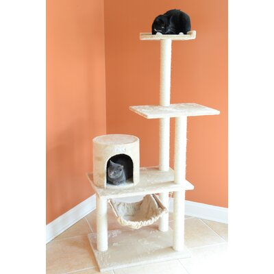 62 Cat Tree Color: Beige