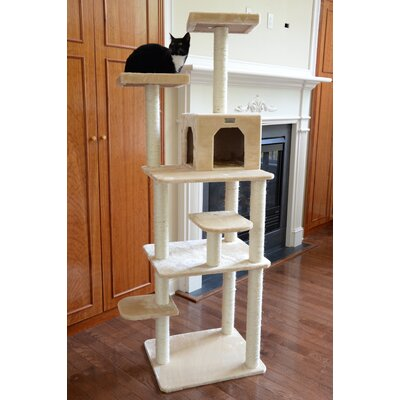 74 Cat Tree Color: Beige