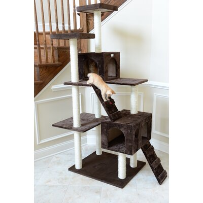 70 Cat Tree Color: Coffee Brown