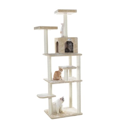 74 Cat Tree Color: Beige