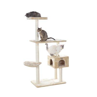57 Cat Tree Color: Beige