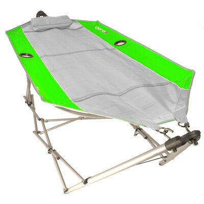 Coast Breeze Camping Hammock with Stand Color: Key West Lime Green