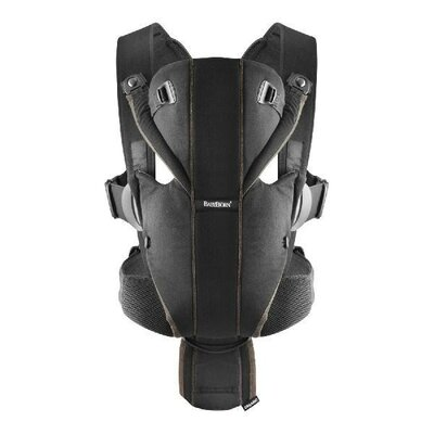 067723e40be Baby Bjorn Miracle Baby Carrier - Soft Cotton - Black Silver