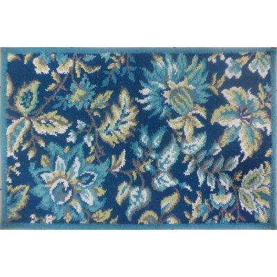 Tapestry Dark Teal Rug Rug Size: 18 x 28