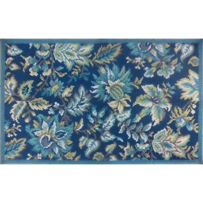 Tapestry Dark Teal Rug Rug Size: 23 x 39