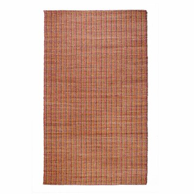 Trees Red Area Rug Rug Size: 76 x 96