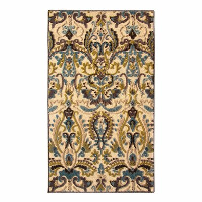 Tribal Council Teal/Beige Area Rug Rug Size: 3 x 5