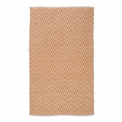Ziggy Persimmon/Gold Area Rug Rug Size: 76 x 96