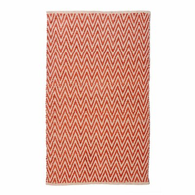 Ziggy Tomato/Spice Area Rug Rug Size: Runner 26 x 76