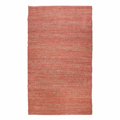 Neal Diamond Coral Area Rug Rug Size: 76 x 96