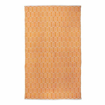 New Ogee Orange Area Rug Rug Size: 5 x 8