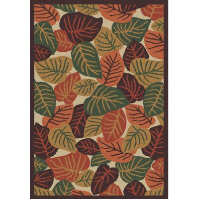 Cumberland Autumn Leaves Earth Rug Rug Size: 4 x 6