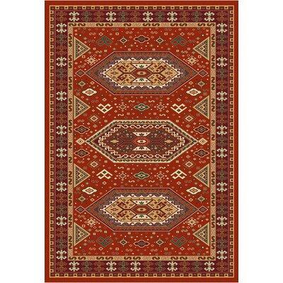 Malmesbury Morroco Red Area Rug Rug Size: 33 x 37