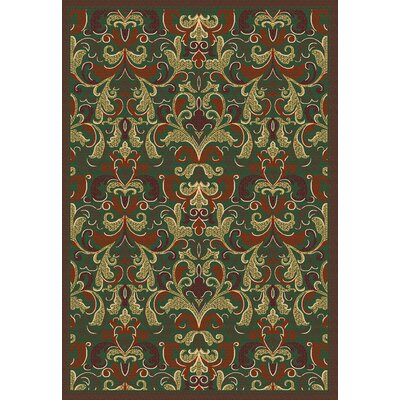 Malmesbury Agra Emerald Area Rug Rug Size: 5 x 7