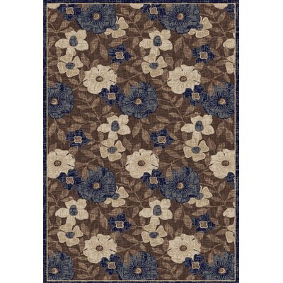 Winchester Larana Beige/ Blue Area Rug Rug Size: 5 x 76