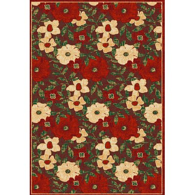Winchester Larana Red/ Beige Area Rug Rug Size: 33 x 47