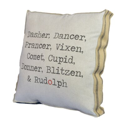 Dasher Dancer Throw Pillow