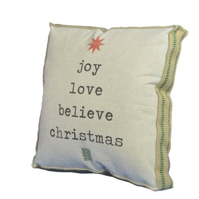 Joy/Love/Believe Throw Pillow