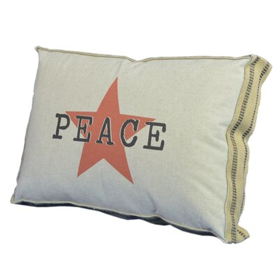 Peace and Star Lumbar Pillow