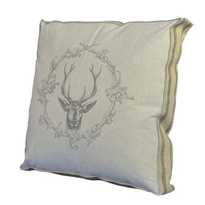 Wreath and Deer Throw Pillow