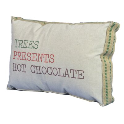 Trees/Presents/Hot Chocolate Lumbar Pillow