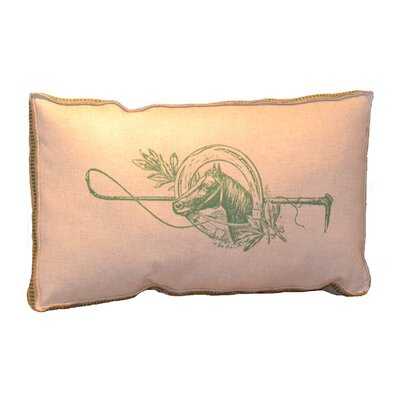 Horse and Mistletoe Lumbar Pillow