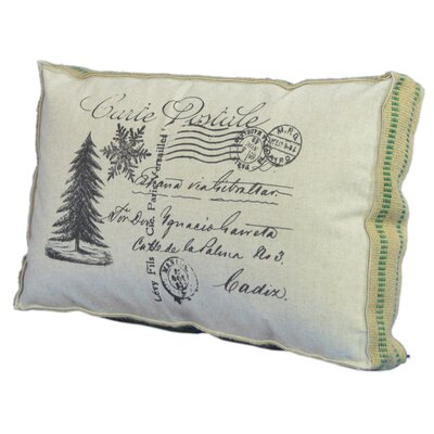 Christmas Tree Postcard Lumbar Pillow