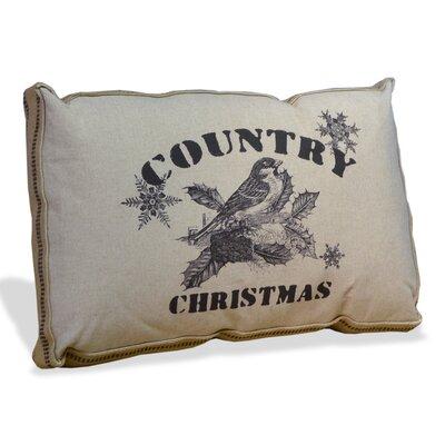 Country Christmas Lumbar Pillow
