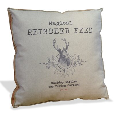 Magical Reindeer Feed Throw Pillow
