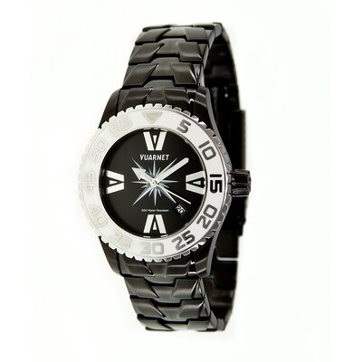 H2O Lady Ladies Watch with Black Steel Band and White Bezel