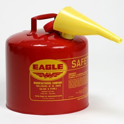 Eagle-MFG Type I - 5 Gallon Safety Can - Funnel: No, Fuel Type: Diesel (Yellow) at Sears.com