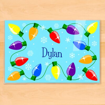 Christmas Lights Personalized Placemat