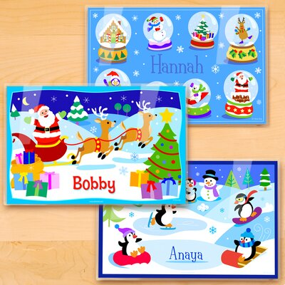 Christmas 3 Piece Personalized Placemat Set