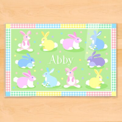 Easter Bunnies Personalized Placemat