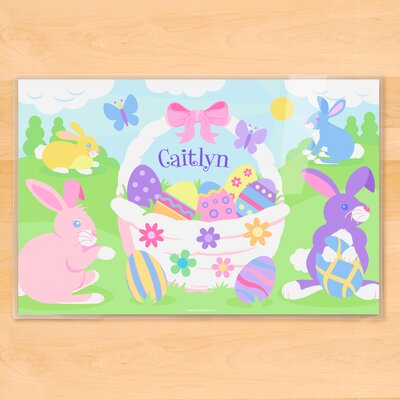 Easter Basket Girls Personalized Placemat PM-ESTR-101-P6X